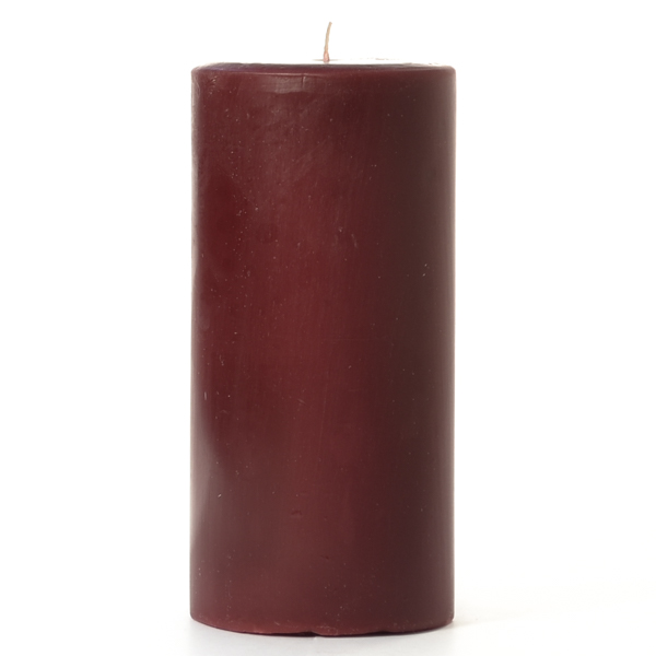 3 x 6 Leather Pipe and Woods Pillar Candles