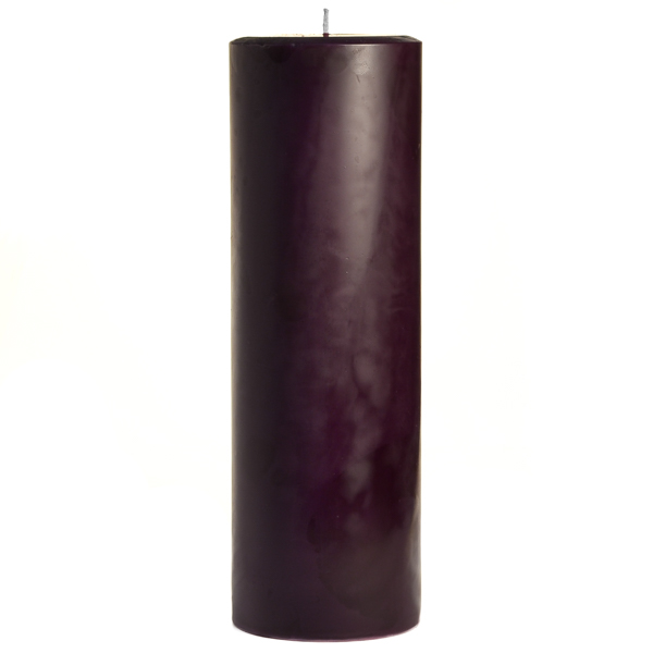 3 x 9 Black Cherry Pillar Candles