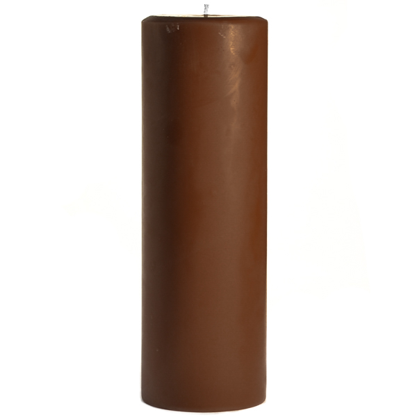 3 x 9 Chocolate Fudge Pillar Candles