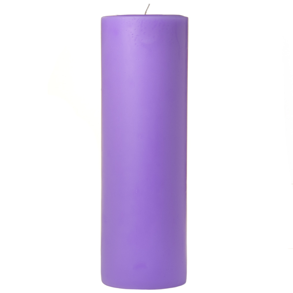3 x 9 Lavender Pillar Candles