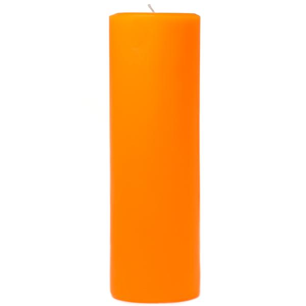 3 x 9 Orange Twist Pillar Candles