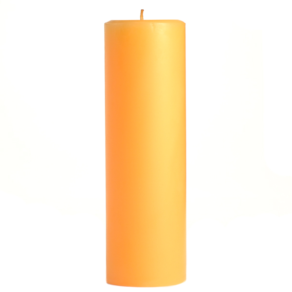 3 x 9 Creamsicle Pillar Candles