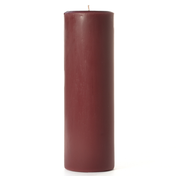 3 x 9 Leather Pipe and Woods Pillar Candles