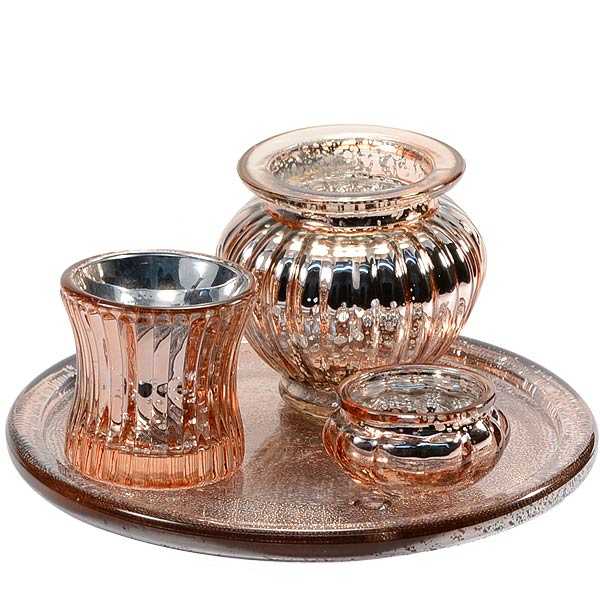 Copper Candle Holder 4 Piece Set