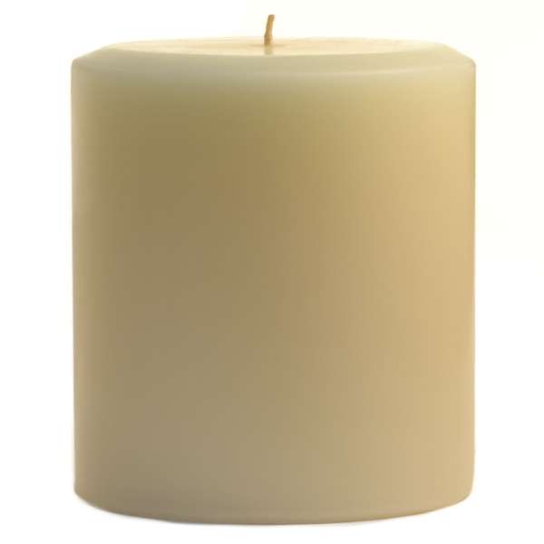 4 x 4 Unscented Ivory Pillar Candles