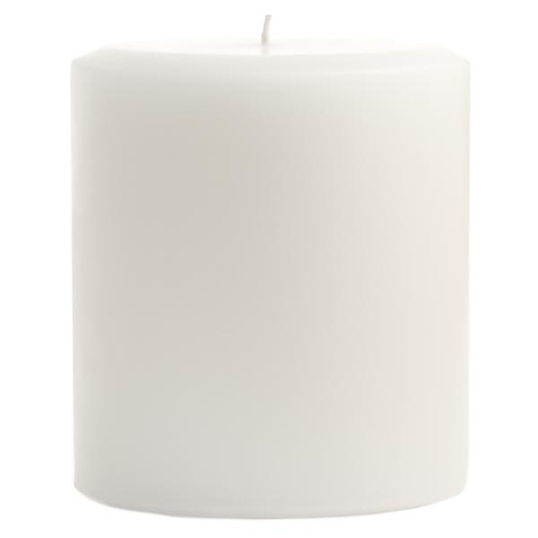 4 x 4 Dapper In Denim Pillar Candles