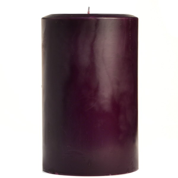 4 x 6 Black Cherry Pillar Candles