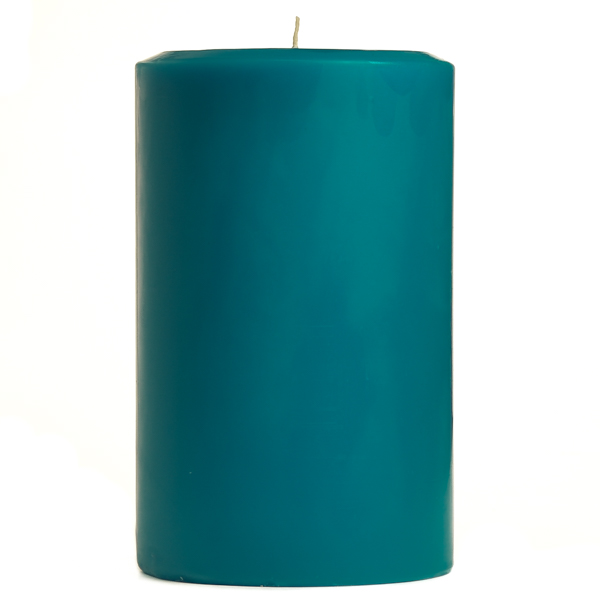 4 x 6 Blue Christmas Pillar Candles