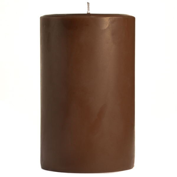 4 x 6 Chocolate Fudge Pillar Candles