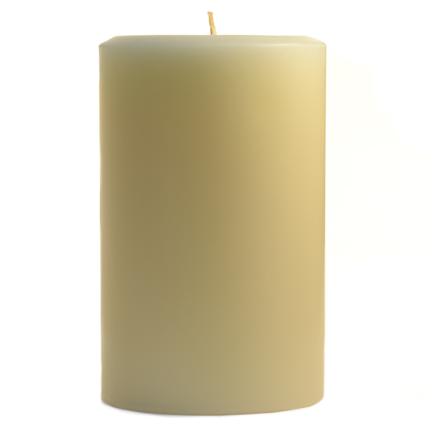 4 x 6 Unscented Ivory Pillar Candles