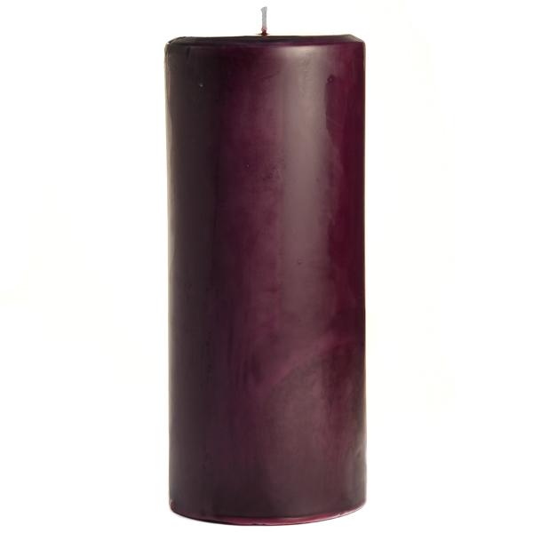 4 x 9 Black Cherry Pillar Candles