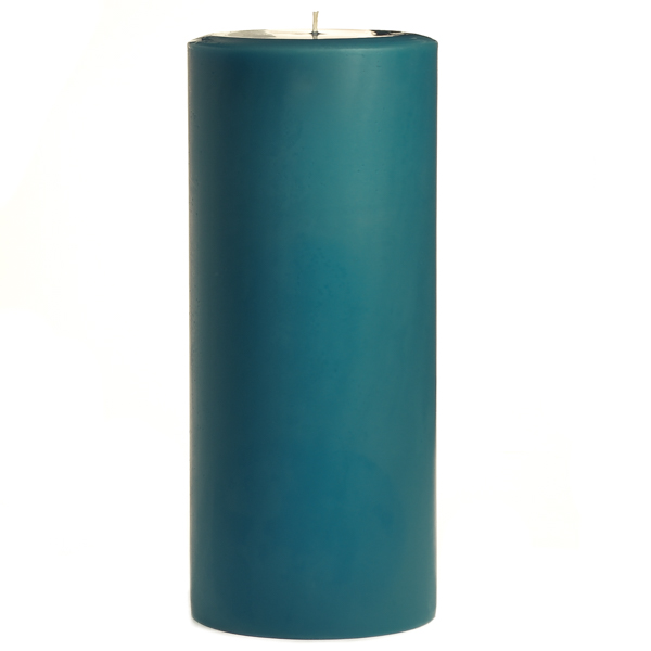 4 x 9 Blue Christmas Pillar Candles