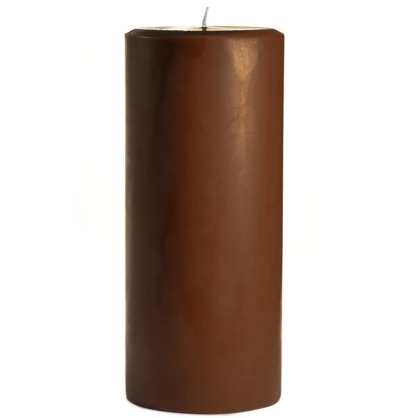 4 x 9 Chocolate Fudge Pillar Candles