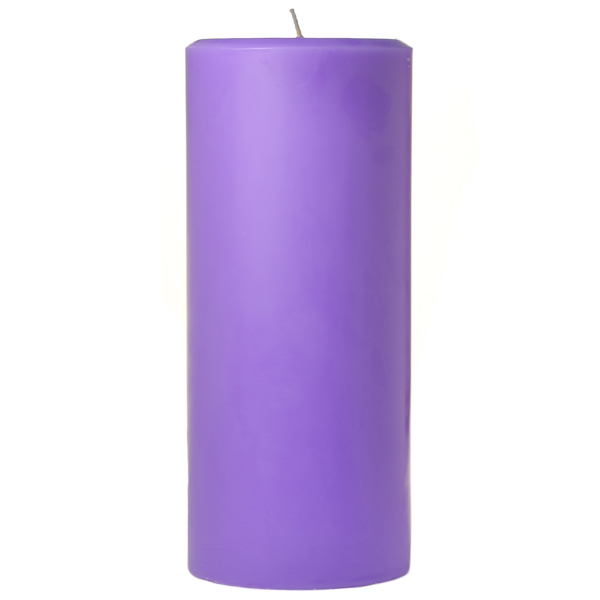 4 x 9 Lavender Pillar Candles
