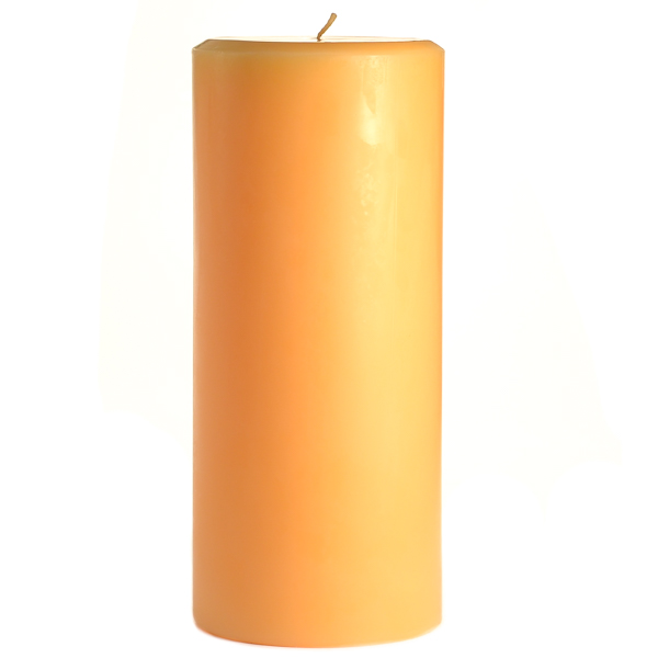 4 x 9 Creamsicle Pillar Candles