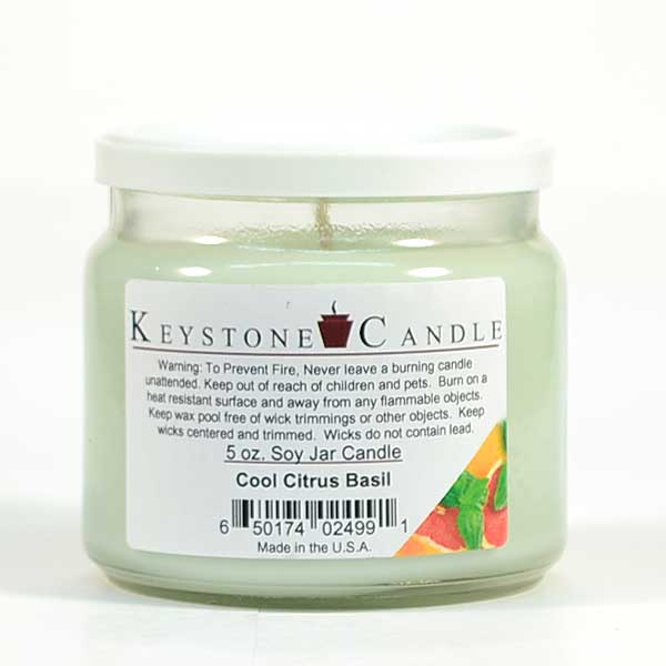Cool Citrus Basil Soy Jar Candles 5 oz