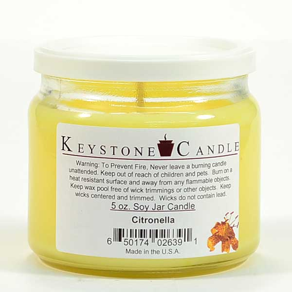 Citronella Soy Jar Candles 5 oz