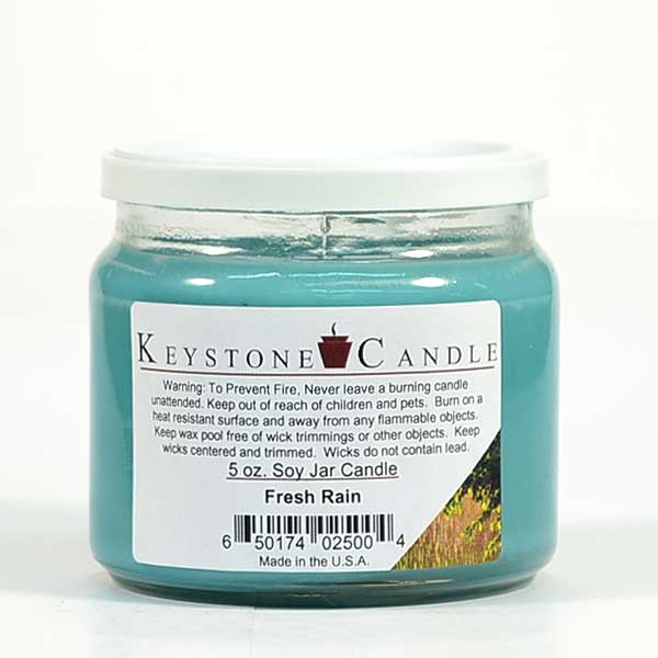 Fresh Rain Soy Jar Candles 5 oz
