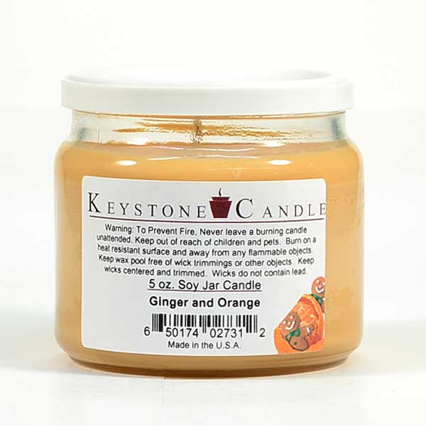 Ginger and Orange Soy Jar Candles 5 oz
