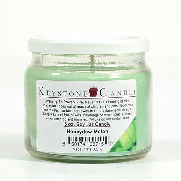 Honeydew Melon Soy Jar Candles 5 oz