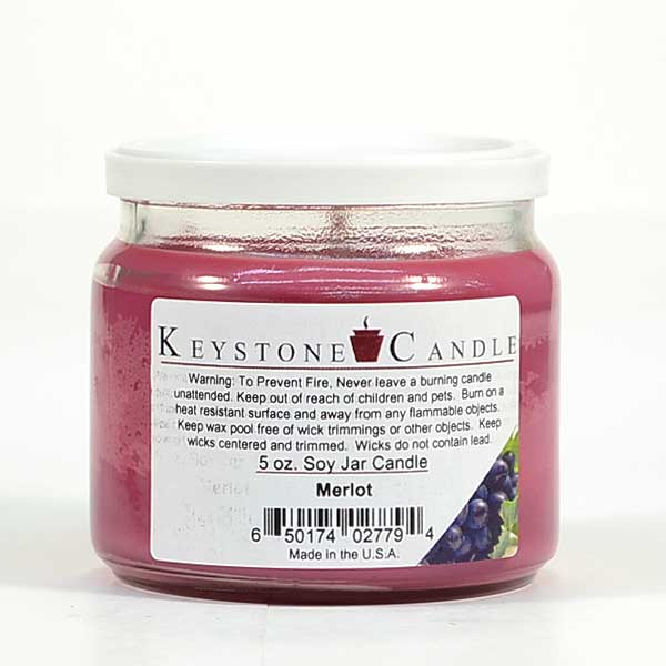 Merlot Soy Jar Candles 5 oz