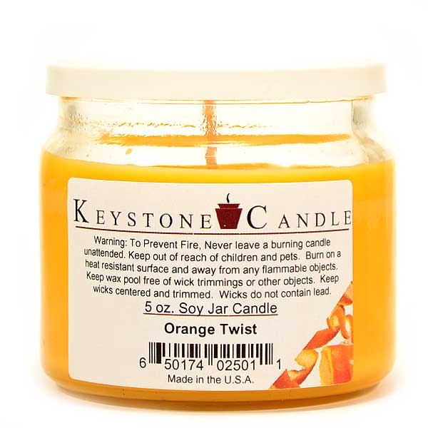 Orange Twist Soy Jar Candles 5 oz