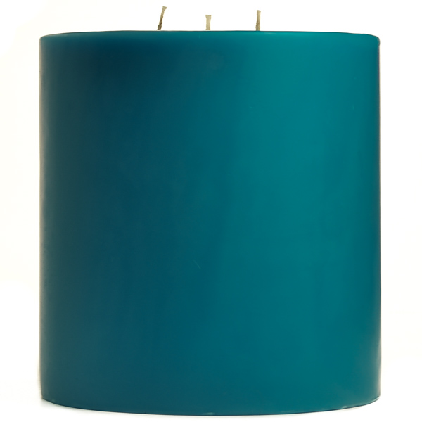 6 x 6 Blue Christmas Pillar Candles