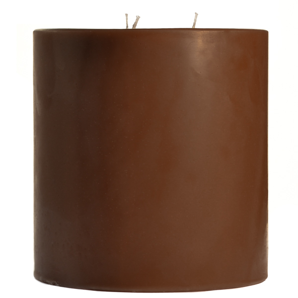6 x 6 Chocolate Fudge Pillar Candles