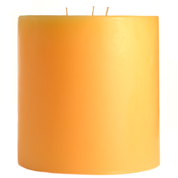6 x 6 Creamsicle Pillar Candles