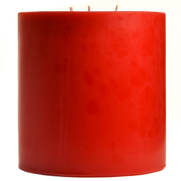 6 x 6 Apple Cinnamon Pillar Candles