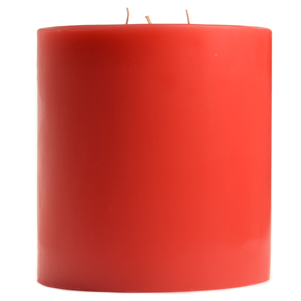6 x 6 Ruby Red Grapefruit Pillar Candles
