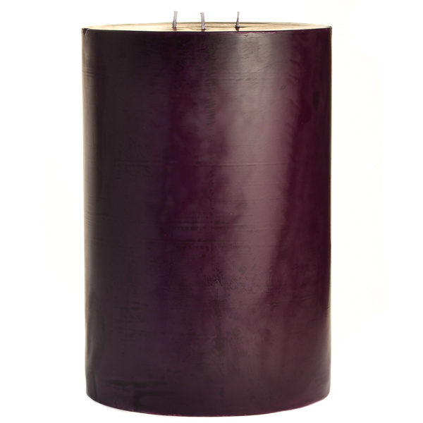 6 x 9 Black Cherry Pillar Candles