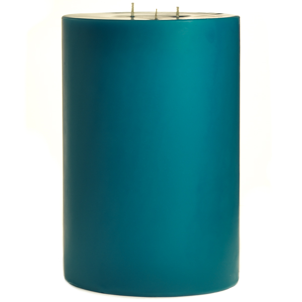 6 x 9 Blue Christmas Pillar Candles