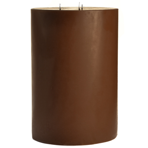 6 x 9 Chocolate Fudge Pillar Candles