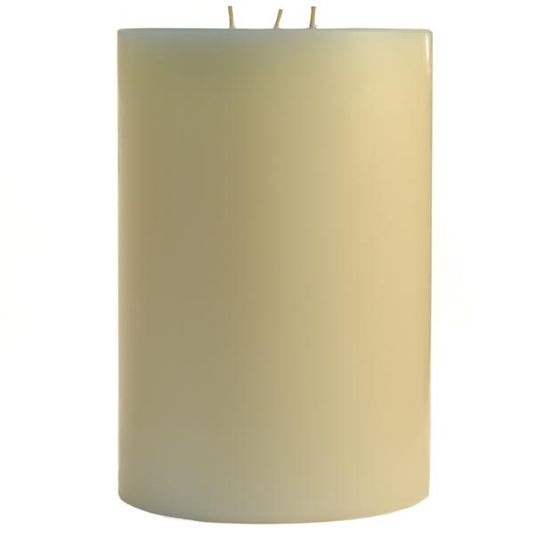 6 x 9 French Butter Cream Pillar Candles