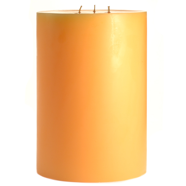6 x 9 Creamsicle Pillar Candles