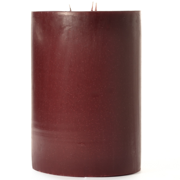 6 x 9 Leather Pipe and Woods Pillar Candles