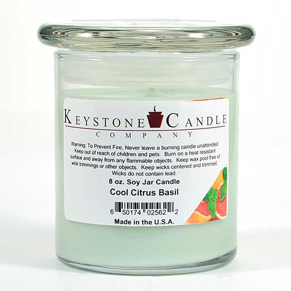 Cool Citrus Basil Soy Jar Candles 8 oz