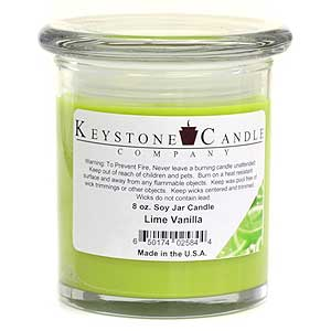 Lime Vanilla Soy Jar Candles 8 oz Madison