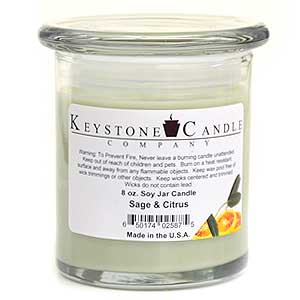 Sage & Citrus Soy Jar Candles 8 oz Madison
