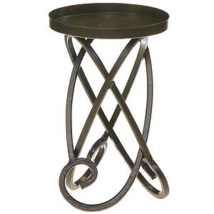 Looped Metal Candle Holders 7 Inch