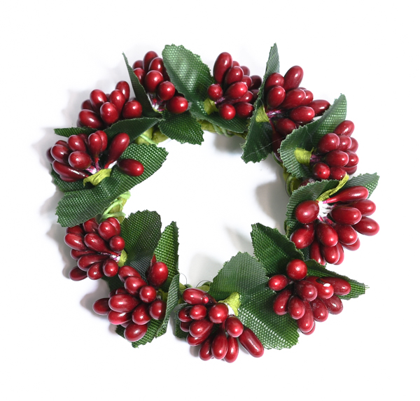 Rice Berry 1.5 Inch Candle Ring Red
