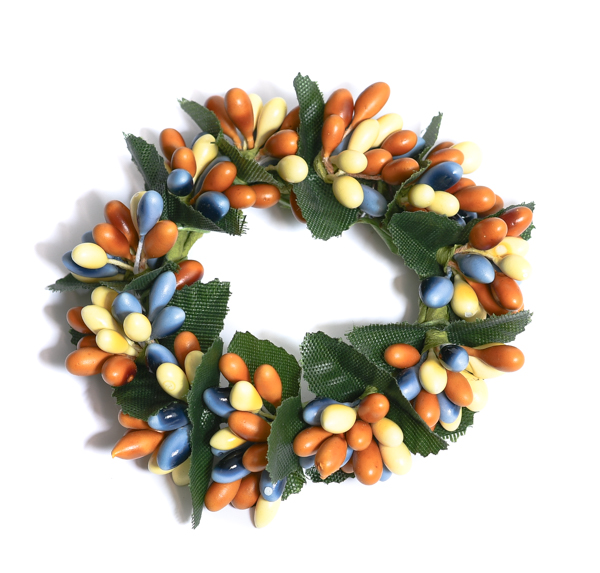Rice Berry 1.5 Inch Candle Ring Yellow Blue