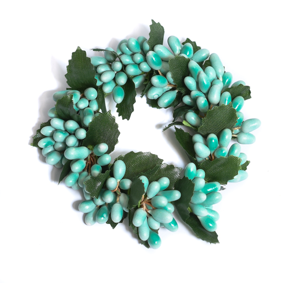 Rice Berry 1.5 Inch Candle Ring Light Teal
