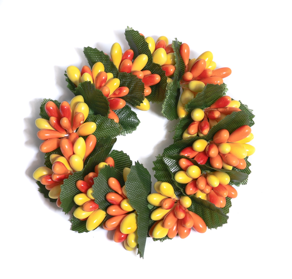 Rice Berry 1.5 Inch Candle Ring Orange Yellow