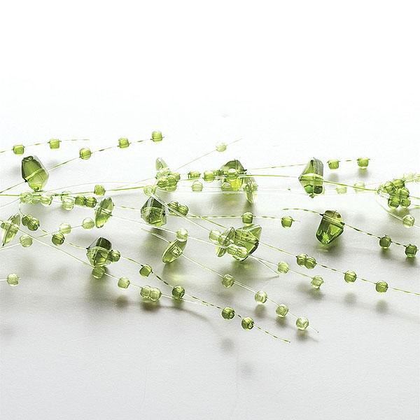 Green Beaded Garland