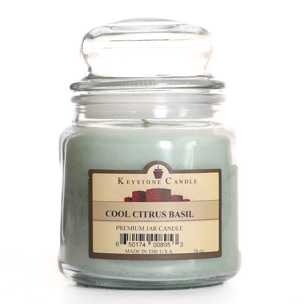 Cool Citrus Basil Jar Candles 16 oz