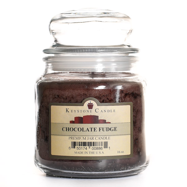 Chocolate Fudge Jar Candles 16 oz