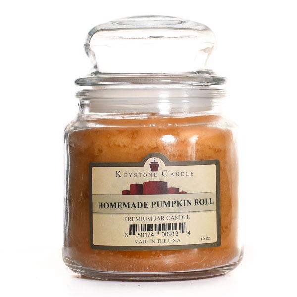 Homemade Pumpkin Roll Jar Candles 16 oz