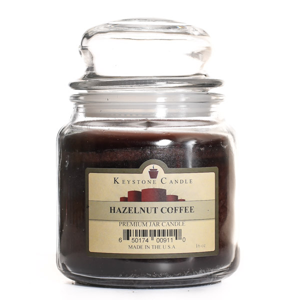 Hazelnut Coffee Jar Candles 16 oz